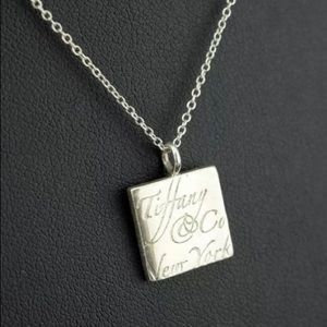 Tiffany & Co notes square pendant necklace